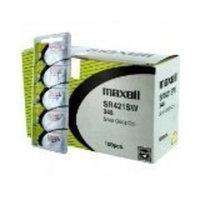 100 pc Maxell SR421SW 348 D348 SR421 Silver Oxide Watch Battery