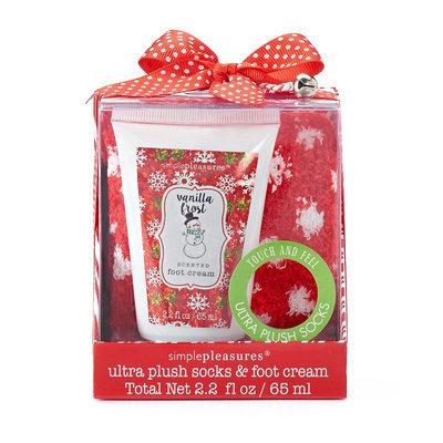 Simple Pleasures Vanilla Frost Foot Lotion & Plush Socks Gift Set, Ovrfl Oth