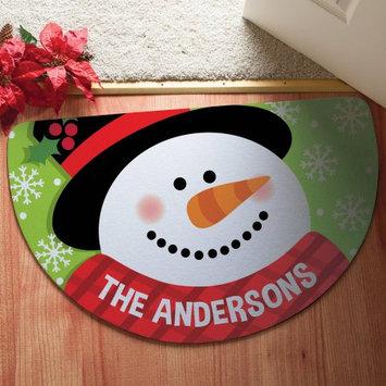 Personalized Snowman Half Round Doormat