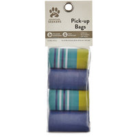 So Phresh Adventure Seekers Blue and Striped Dog Pick-up Bags, 120 Count