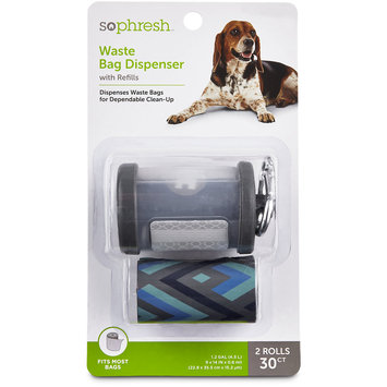 So Phresh Grey Dog Waste Bag Dispenser with Refills, 30 CT