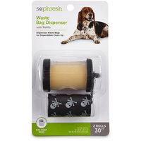 So Phresh Black Dog Waste Bag Dispenser with Refills, 30 CT