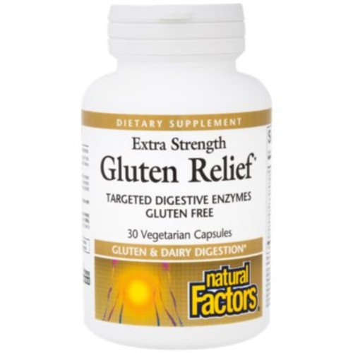 Extra Strength Gluten Relief (30 Vegetarian Capsules) by Natural Factors at the Vitamin Shoppe