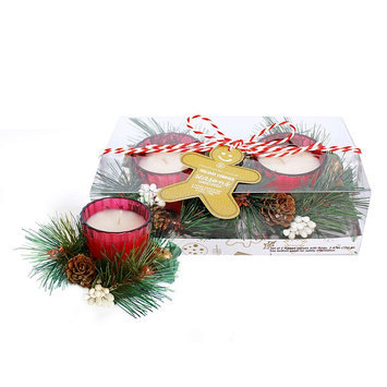 Chesapeake Bay Candle Holiday Cookies Votive Candle 2-piece Set, Multicolor