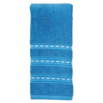 Saturday Knight, Ltd. Indigo Paisley Stripe Hand Towel, Blue