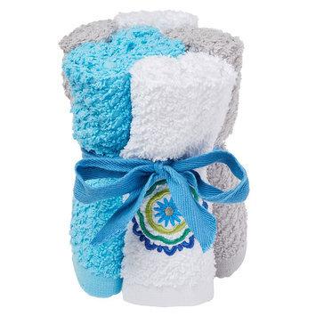 Saturday Knight, Ltd. Indigo Paisley 6-pack Washcloths, Multicolor