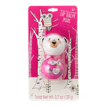Simple Pleasures 2-pk. Berry Frost Bear & Owl Lip Balm Critter Pods, Other Clrs