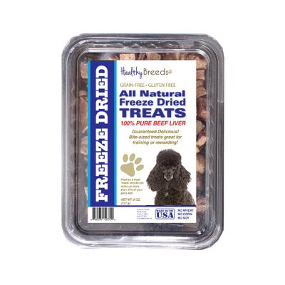 Healthy Breeds 840235148166 10 oz Poodle All Natural Freeze Dried Treats Beef Liver