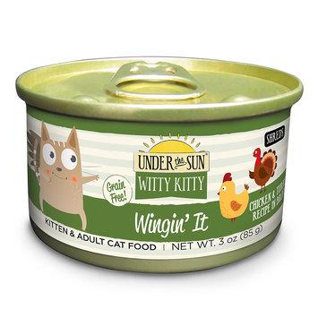 Under The Sun Witty Kitty Wingin' It Chicken & Turkey Recipe Wet Cat Food, 3 oz, Case of 24