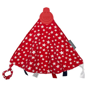 Kalencom Cheeky Chompers Comfortchew Teething Bib - Red Stars