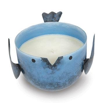 Sunrise Creek Candles Scented, Blue Coastal Water Scented Decorative Candle Jars Iron Bird