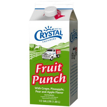 Crystal Creamery Fruit Punch, .5 gal