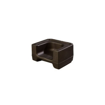 Carlisle 711003 Plastic Dual Seat Restaurant-Style Booster Chair, Black []