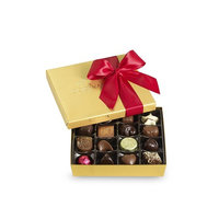 Godiva Chocolatier Red Ribbon Gold Ballotin Assorted Gourmet Chocolates 19 Piece Gift Box, Great for Gifting [Classic Red]
