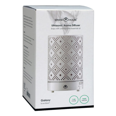 Serene House Galaxy Ultrasonic Aromatherapy Diffuser, White
