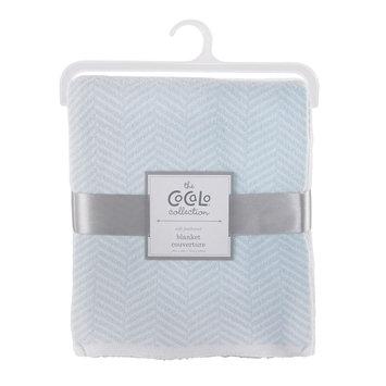 Cocalo Herringbone Knitted Blanket - Starlight Blue, Lite Blue