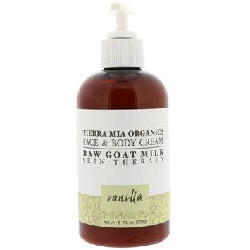 Tierra Mia Organics, Raw Goat Milk Skin Therapy, Face & Body Cream, Vanilla, 8 fl oz (226 g) [Scent : Vanilla]