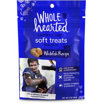 WholeHearted Savory & Tasty Soft Cat Treats - Whitefish Recipe, 3 OZ