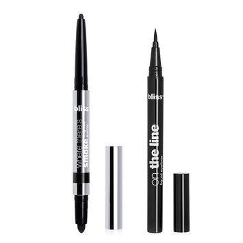 bliss Where There's Smoke Longwear Eyeliner & On the Line Liquid Eyeliner Duo, Black