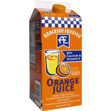 Anderson Erickson Dairy AE 100% ORANGE JUICE WITH CALCIUM
