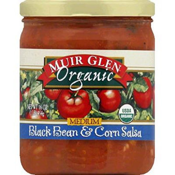 Muir Glen Organic Medium Salsa Black Bean and Corn -- 16 fl oz