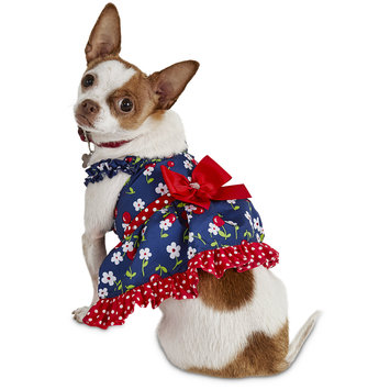 Bond & Co. Fresh-Picked Cherry Dog Dress, X-Small