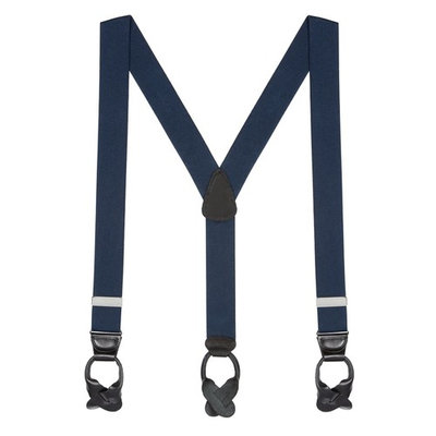 Suspender Store Solid Color Button Suspenders - 1.5 Inch Wide