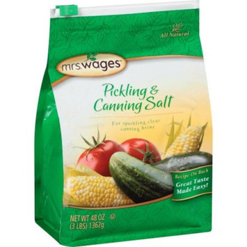 Mrs. Wages Pickling and Canning Salt, 3lbs
