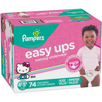 Pampers Easy Ups Training Underwear Girls, Size 4T-5T, 74 Pants