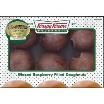 Krispy Kreme Glazed Raspberry Filled Doughnuts - (2) Half Dozen Boxes