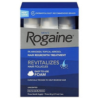 Rogaine Men's Easy-To-Use Foam 6.33 oz, 3 ea (Pack of 10)