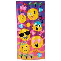 Jumping Beans Emoji Beach Towel, Multicolor