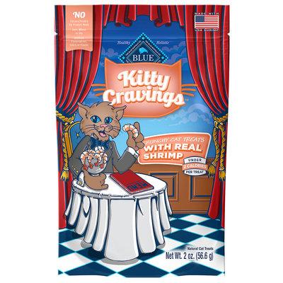 Blue Kitty Cravings Cat Treat - Natural, Shrimp size: 2 Oz