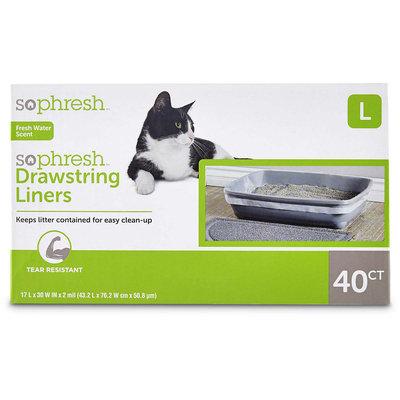 So Phresh Scented Drawstring Cat Litter Box Liners 17