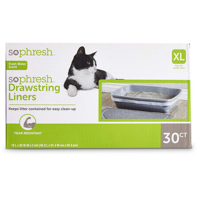 So Phresh Scented Drawstring Cat Litter Box Liners 19
