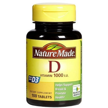 Nature Made Vitamin D3 1000 IU, 100 Tablets (2 Pack)