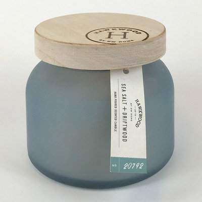 Hawkwood Sea Salt & Driftwood 6-oz. Candle Jar, Blue