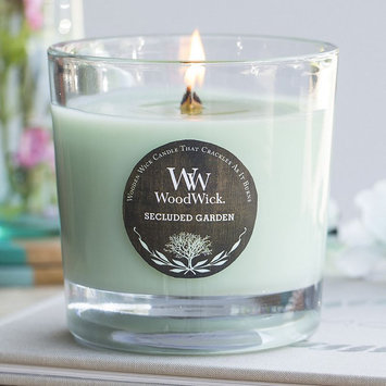 WoodWick Tri-Pour Greenhouse Lilac, Secluded Garden & Fresh Blossoms 10.5-oz. Jar Candle, Lt Green