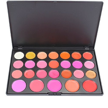 PhantomSky 26 Color Cream Lip Gloss Makeup Palette Cosemetic Contouring Kit - Perfect for Professional and Daily Use