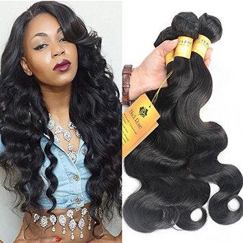 Black Rose Hair Peruvian Body Wave 4pcs Lot 100% Human Hair Extension Unprocessed Peruvian Virgin Hair Body Wave Total 200g/7.05oz 50g/bundles, Pack of 4 (12 12 14 14 Inch)