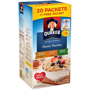 The Quaker Oats Company Quaker ® Flavor Variety Instant Oatmeal 20-1.51 oz. Packets