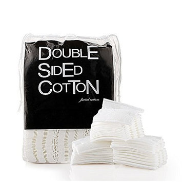 Healthcom Cosmetic Cotton Makeup Cut Cotton Soft Cotton Puff Double-Sided Cotton Pads Stitched Cottton Balls,200 Pcs