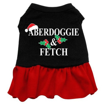 Mirage Pet Products 12-Inch Aberdoggie Christmas Screen Print Dress