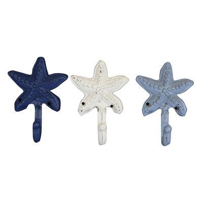 Belle Maison Starfish Wall Hook 3-piece Set, Multicolor