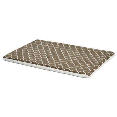 Midwest QuietTime Defender Series Reversible Crate Pad Brown, X-Large, Brown / White