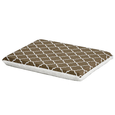 Midwest QuietTime Defender Series Reversible Crate Pad Brown, Small, Brown / White