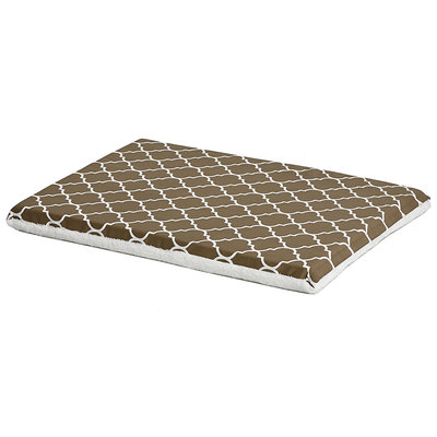 Midwest QuietTime Defender Series Reversible Crate Pad Brown, Medium, Brown / White