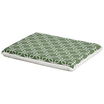 Midwest QuietTime Defender Series Reversible Crate Pad Green, Small, Green / White