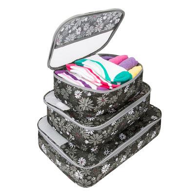 Travelon Set of 3 Packing Cubes Retro Mums - Travelon Travel Organizers