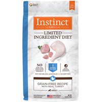 Natures Variety Nature's Variety Instinct Limited Ingredient Diet Grain Free Turkey Dry Dog Food, 4 lbs.
